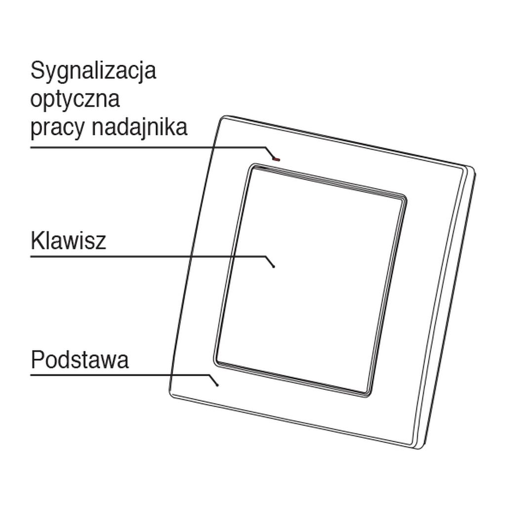 Radiowy nadajnik klawiszowy