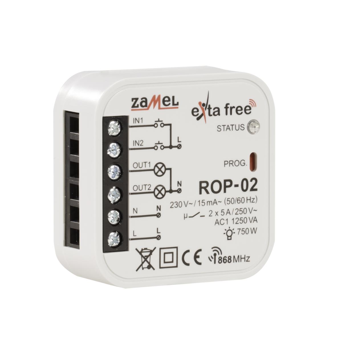 Radiowy odbiornik dopuszkowy 2- kanałowy ROP-02